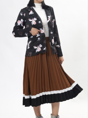 C-Bt Leb 3 Tones Pleated Skirt