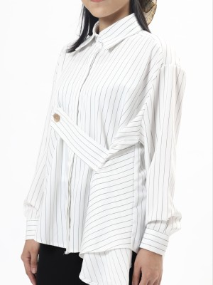 Stripe Shirt With A Button