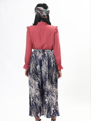 Palm Leaves Abstract Print Pants