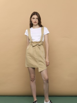 2PCS Tee And Pinafore Skirt