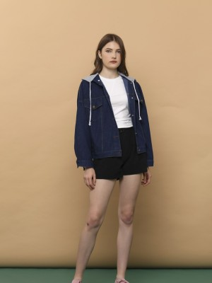 Detachable Hoodies Denim Jacket