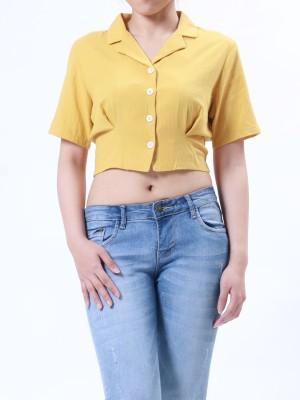 B-Sl Blaze Collar Crop Shirt