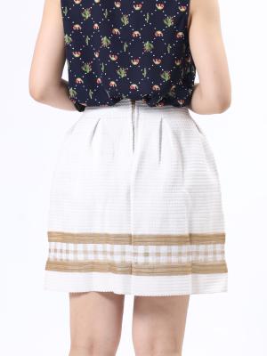 Bottom Gold Checkered Mini Skirt
