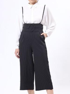 D-Bt Stripe High Waist Jumpsuit