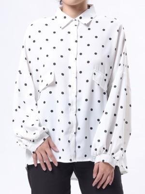 Long Sleeves Polkadot Shirt