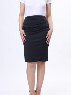 Overlap Pencil Skirt