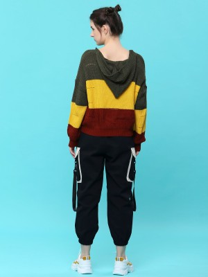 D-Sl You 3 Tones Color Knitted Top