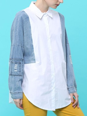 Denim Combine Shirt