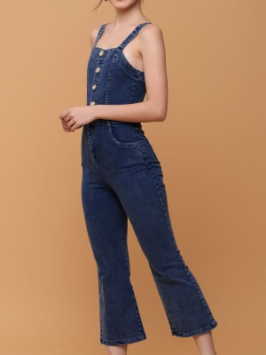 Washed Denim Jumpsuit