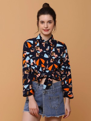 Triangles Stones Print Shirt