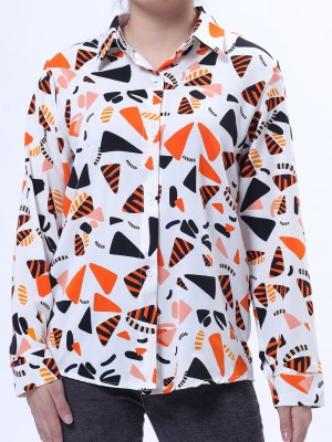 Triangles Stones Print Shirt