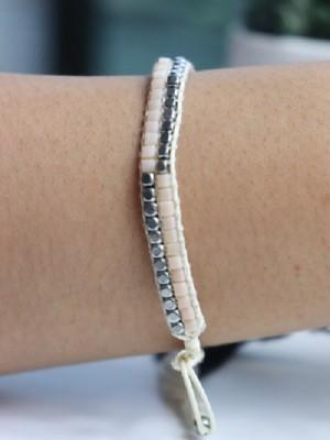 Stones braided bracelet