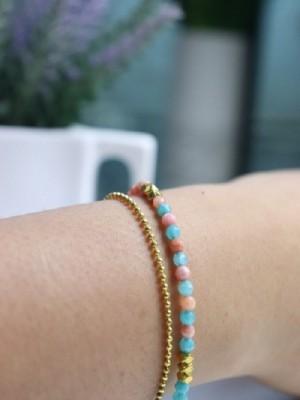 Mini natural stones bracelet