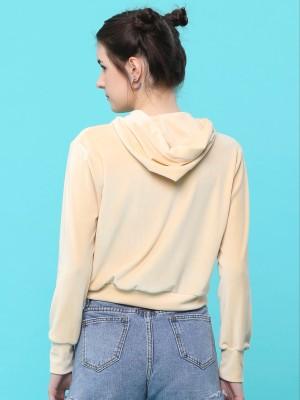 Embellished Hoodies String Crop Sweater