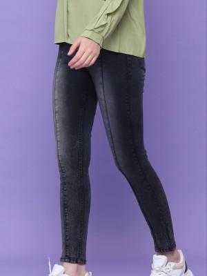 Semi High Waist Slim Denim Jeans