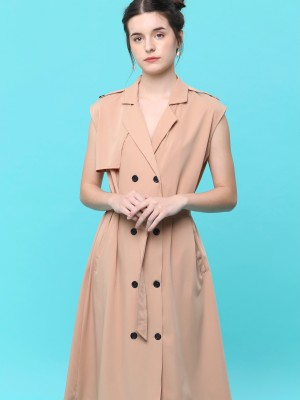 Long Vest Coat Dress
