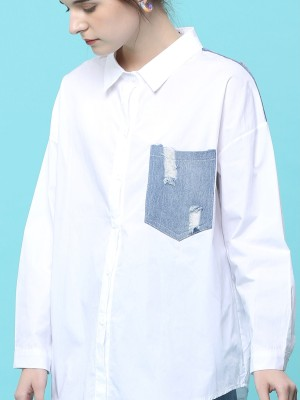 Ripped Pocket Combi Shirt
