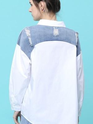 Ripped Pocket Combi Shirt