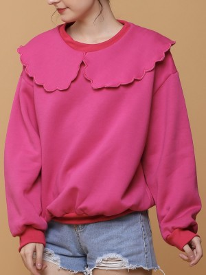 Flower Petal Outline Collar Sweater