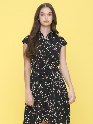 Dispersed Color Dot Mini Dress