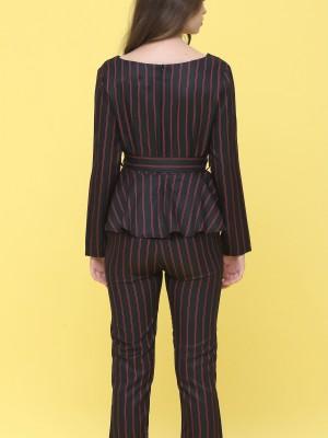 2 Pcs Set Stripes Top With Pants