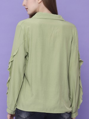 Frilled Long Sleeves Top