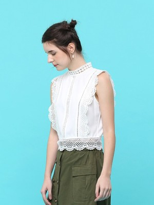 Lucky Carm Embroidered Edge Top