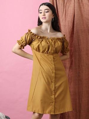 Cottage Core Off Shoulder Dress