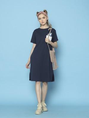 Cimory-Cow Print Pocket Dress
