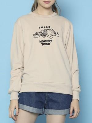 Cimory-I'm  BIT MOODY Today Sweater