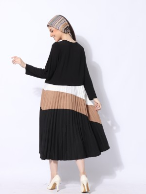 Wave Panel Color Dress