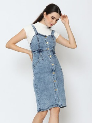 Cottage Core Hearth Neckline Denim Dress