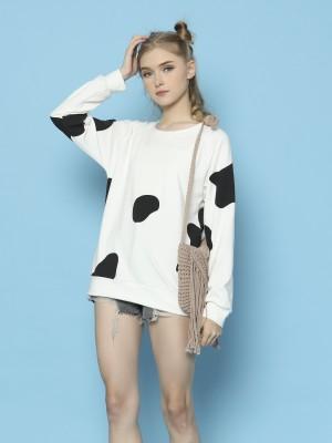 Cimory-Cow's Print Sweater