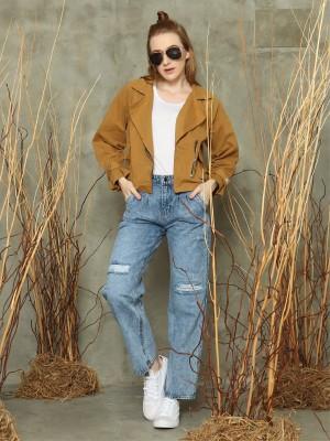 Wrist-toe crop racer jacket