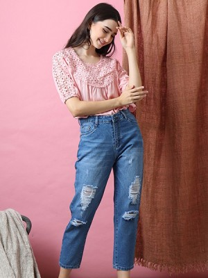 Boyfriend Rip Jeans