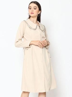 Cottage Core Double Collar Midi Dress