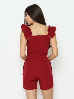 Lucky Charm Ruffles Sleeves Playsuit