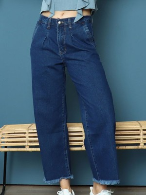 Cottage Core Unfinished Anke Loose Denim