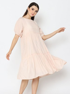 Cottage Core Square Neck Loose Dress