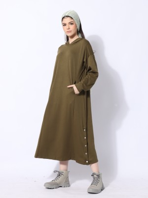 Ramadhan Moon Hoodie Maxi Dress