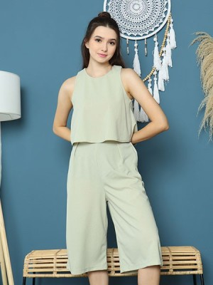 Cottage Core 2 Sets Sleeveless Top With Long Culotte