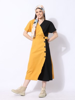 Ramadhan Moon Panel Overlap Dress