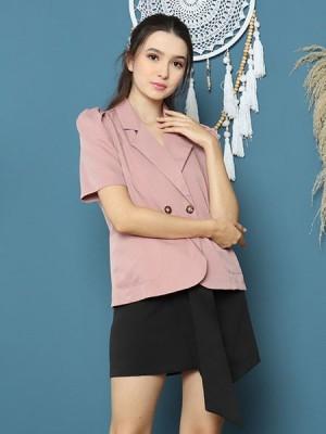 Cottage Core Short Sleeves Blazer
