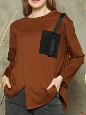 Asymetric one sided pockets L/Slv top