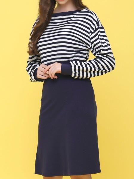 2 Pcs set stripes top dress