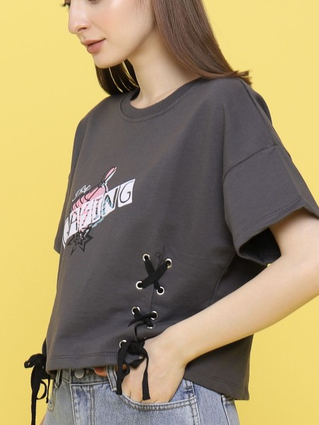 Game Legend Gasing lace Up tee