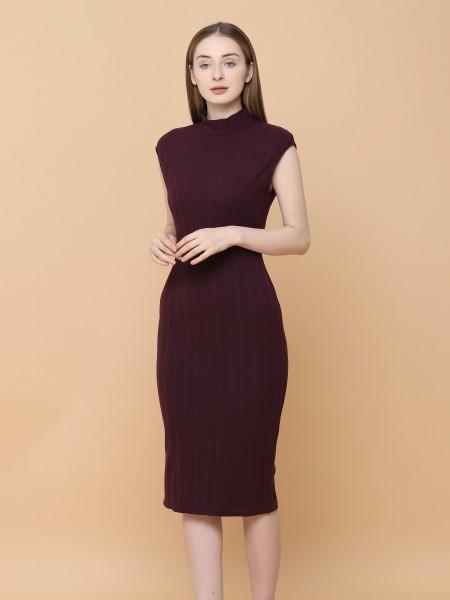 Knit Stretch Bodyfit Midi Dress