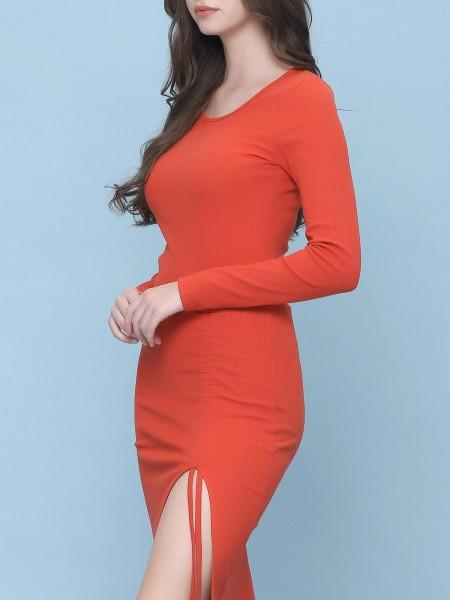 Side Drawstring Dress