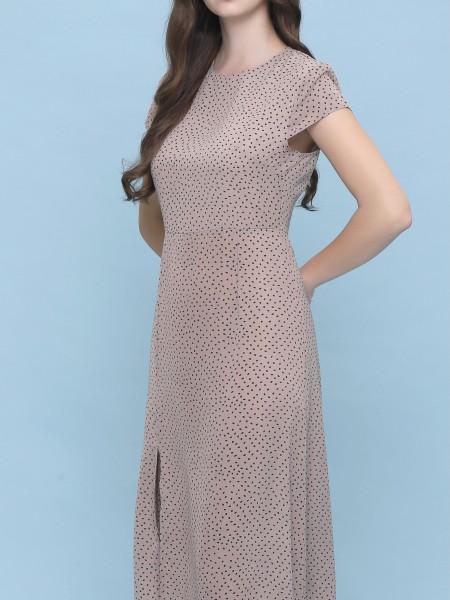 Dot Side Split Dress