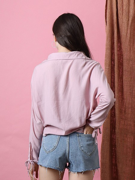 Cottage Core Sleeves Tied Casual shirt